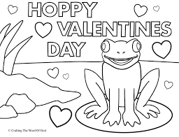 Hoppy Valentines Day Coloring Page