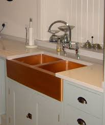 Retrofit Copper Apron Sink by Copper Kitchen Sinks Allinone Undermount Hammered Copper 33 In