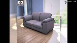 ikea tidafors two seat sofa 3d model from creativecrash com youtube