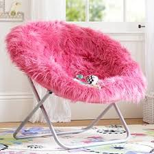 Pink Fur Rific Faux Hang A Round Chair
