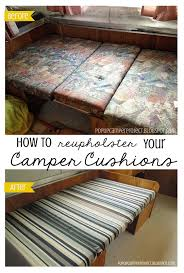 Reupholster Rv Jackknife Sofa Rv by Pop Up Camper Project How To Reupholster Your Camper Cushions