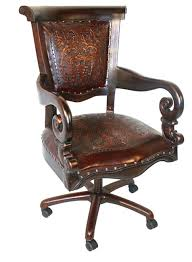 Tooled Leather Western Desk Chair Fabulous Furniture