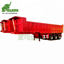 100 End Dump Truck 3 Axles 45 Tons Semi Trailer Capacity Buy Semi