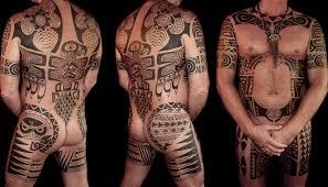 A Hand Poked Polynesian And Northwest Coast Inspired Bodysuit
