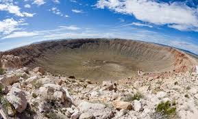 Wide Angle View Of Barringer Meteor Crater