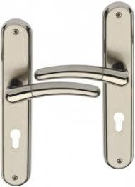 bequille de porte exterieur poignée de porte d entrée design en laiton nickel poli satiné sur