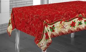 nappe de table noël avec designs et dimensions assortis groupon