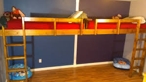 I built this double loft bed with 2 twin mattresses for my two