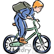 Couple Riding Bikes Clipart 1