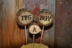 Its A Boy Cake Topper Woodland Rustic Baby Shower Personalized Toppers
