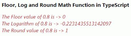 Java Mathceil Return Integer by Math Object In Typescript Part 3