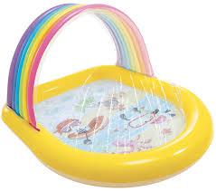 kinderpool mit regenbogen und wasserspritzfunktion