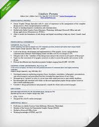 Resume Example Graphic Design