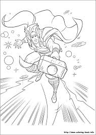 Thor Coloring Page Site Has Tons Of Pages