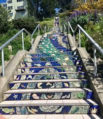 16th Avenue Tiled Steps Project by Golden Gate Heights Mosaic Stairway San Francisco Ca Trover