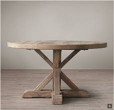 Diy Round Rustic Dining Table Restoration Hardware Look Alikes Save Williams Sonoma Vs On Kitchen