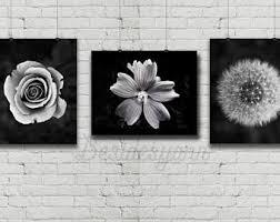 Black And White Art Flower Photography Print Flowers Dandelion Minimalist