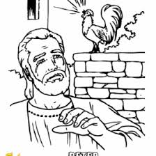 Coloring Page Peter Denies Jesus Archives