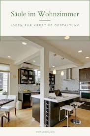 säule im wohnzimmer ideen für kreative gestaltung
