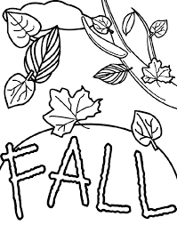 Leaves And Twigs Fall Coloring Pages For Kids Printable Autumn