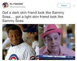 Got a Dark SKin Friend Sammy Sosa s Bleached Skin