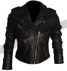 black biker jacket for women
