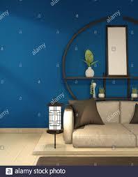 moderne zen wohnzimmer innenausstattung weißes sofa und