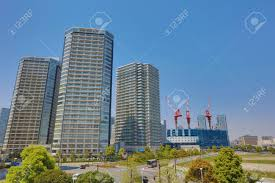 100 Apartment In Yokohama Blue Sky And A Large At Stock Photo Picture And