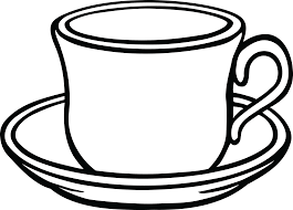 Free Clipart Of A Cup Coffee And Saucer Rh Clipartof Com Bean Black White Shop