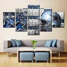Decorating Ideas Dallas Cowboys Bedroom by Dallas Cowboys Helmet Nfl Football 5 Panel Canvas Wall Art Home