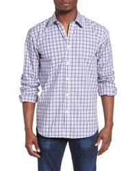 Guess Lincoln Dobby Plaid Shirt in Blue for Men