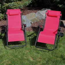 Sunnydaze Outdoor XL Zero Gravity Lounge Chair With Pillow And Cup Holder,  Folding Patio Lawn Recliner, Red, Set Of 2 Folding Patio Lounge Chair Brickandwillowco Portable 2in1 Folding Chair Recliner Sleeping Loung Outdoor Sun Loungers Beach Lounge Chairs Adjustable Garden Deck Psychedelic Metal Plastic Cane Recling Foldable Zero Gravity With Pillow Black Sunnydaze Rocking Chaise Headrest Outdoor W Shade Canopy Cup Holder Camping Fishing Arm Rest Amazoncom Set Of 2 Patio