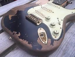 Ebay Custom Shop John Mayer Black One Aged Guitar SRV Nitrocellulose