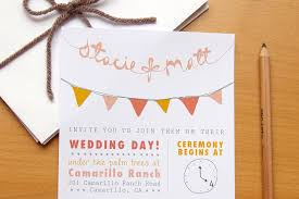 Budget Wedding Ideas DIY Invitations Etsy Weddings Bunting Pennant Design