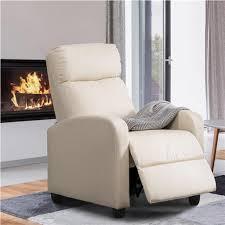 yaheetech relaxsessel fernsehsessel ruhesessel liegesessel mit liege funktion polstersessel kunstleder verstellbar einzelliegesessel wohnzimmer