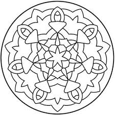 Coloriages Mandala Facile Adultes Pour Mandala Facile A