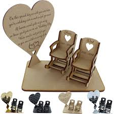 Personalised Memorial Plaque Wedding Memory Table Sign Empty Seat Gifts In  Loving Memory + 2 Chairs