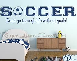 Soccer Themed Bedroom Photography by Soccer Wall Decal Etsy