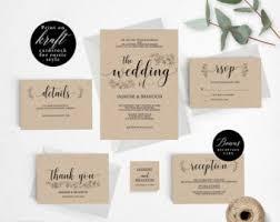 Romantic Rustic Wedding Invitation Template Printable Set Cheap