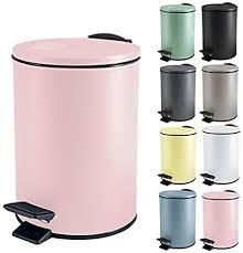 spirella kosmetikeimer 3 liter edelstahl mit absenkautomatik und inneneimer adelar badezimmer mülleimer softclose abfalleimer rosa