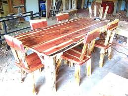 Dining Room Set Rustic Red Cedar Hancrafted Log Furniture Best Prices