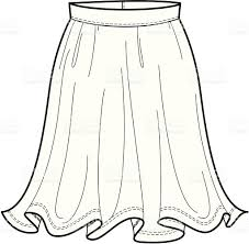 skirt clipart black and white fashion illustration of a flowing