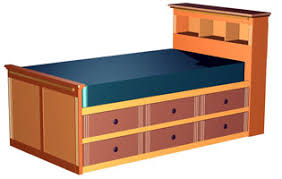 twin high storage bed woodworking plans