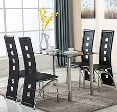 modern kitchen table sets amazon com