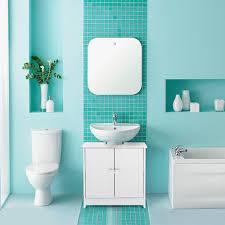 ikayaa moderner unterbau badezimmer schrank mit türen