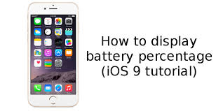 how to display battery percentage on Apple iPhone 6s and 6s Plus
