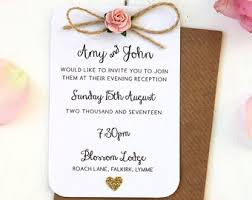 Rustic Rose And Gold Heart Small Evening Invitation