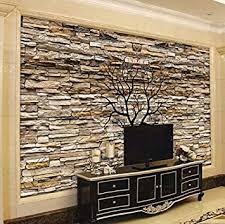 fototapete 3d steinwand für wohnzimmer sofa tv wandbild