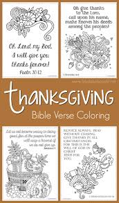 Thanksgiving Bible Verse Coloring Pages