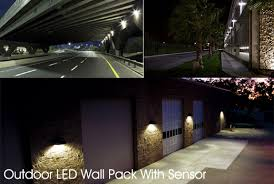 outdoor led wallpack light with sensor outdoor lighting
